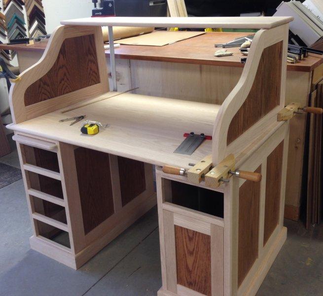 Custom Roll Top Desk - in progress