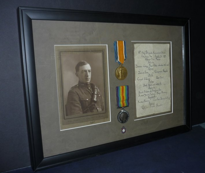 Custom framed shadow box medals