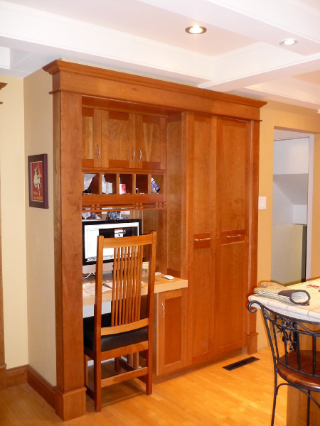Finishing Carpentry: Cherry built-in cabinet