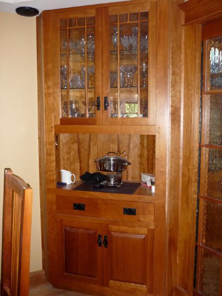 Cherry Corner Cabinet