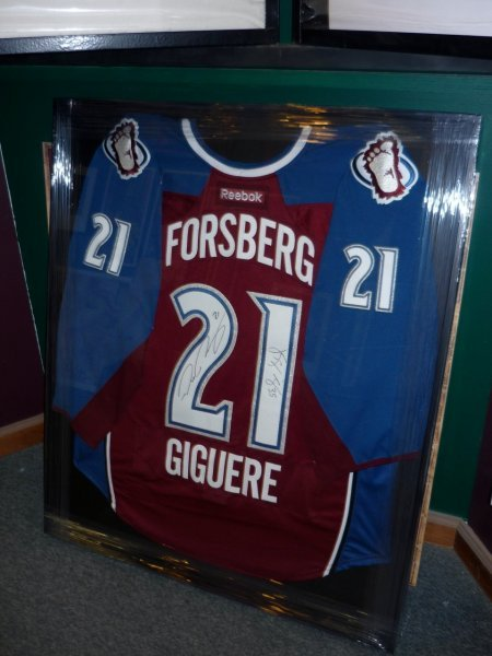 Custom shadow box framed jersey